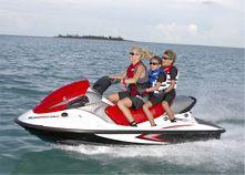 Family fun on a Kawasaki Jet ski Bayliner Boats, Used Boats, Utility Boat, Diy Water Fountain, Beat The Heat, Pontoon Boat, Jet Ski, Boat Building, Boating
