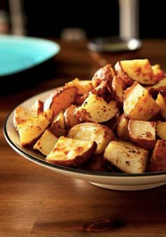 Potatoes POUPON -- Red potato chunks are tossed in a mixture of Dijon mustard, Italian seasoning, olive oil and garlic, then roasted for an easy and delicious side dish recipe.