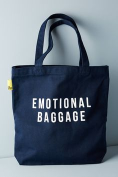 The School of Life Emotional Baggage Tote – Mode für Frauen Sacs Design, Fabric Bags, Baggage, Canvas Tote Bags, Canvas Totes, Jute, Reusable Tote Bags, Cute Tote Bags, Pouch
