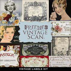 free to print vintage soap labels