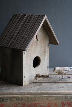 Birdhouses on a shelf...