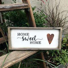 Home Sweet Home, Framed Wooden Sign