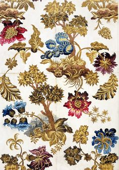 Designs by Anna Maria Garthwaite for Spitalfields silks from the 1740's in the collection of the Victoria and Albert Museum. Description from pinterest.com. I searched for this on bing.com/images