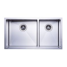 "BAI 1229 - 48"" Handmade Stainless Steel Kitchen Sink Double Bowl Top Mount 16 Gauge - $399.99"
