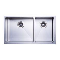 "BAI 1229 - 48"" Handmade Stainless Steel Kitchen Sink Double Bowl Top Mount 16 Gauge - $399.99"
