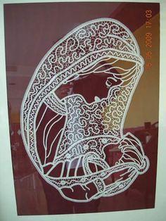 Flute Sheet Music, Bobbin Lace Patterns, Parchment Craft, Cute Embroidery, Madonna, Macrame, Cupcakes, Crafts, Bobbin Lace