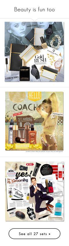 """Beauty is fun too"" by justlovedesign ❤ liked on Polyvore featuring Beauty, justlovedesign, beauty, Post-It, Elizabeth and James, OPI, NYX, Vita Liberata, Million Dollar Tan and Hawaiian Tropic"