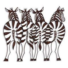 Zebras Metal Wall Art Uttermost in Wall Art. This wall art is made of hand forged and hand hammered metal finished in distressed rusty bronze with burnished edges. Kirigami, Metal Artwork, Metal Wall Art, Paper Cutting, Wrought Iron Wall Decor, Paper Art, Paper Crafts, Forging Metal, Tuscan Decorating