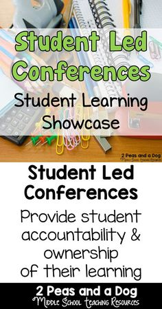 Student Led Conferences are a good way to have students take on more ownership of their learning, and share this learning with their parents, guardians and teachers. Student Led Conferences, Formative And Summative Assessment, Secondary Teacher, Meet The Teacher, Parents As Teachers, Student Learning, Learning Goals, Teaching Resources, Teaching Ideas