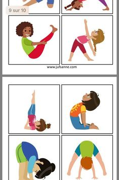 50 easy crafts and activities your kids can do instead of playing video games when they're stuck inside. Indoor activities for kids. Physical Activities For Kids, Babysitting Activities, Gross Motor Activities, Learning Activities, Preschool Activities, Poses Yoga Enfants, Kids Yoga Poses, Yoga For Kids, Exercise For Kids