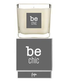 Loving this White & Dark Gray 'Be Chic' Kaison Candle on #zulily! #zulilyfinds