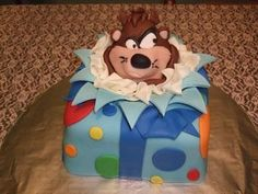 Cakes by April: Taz Cake Looney Tunes Space Jam, Baby Looney Tunes, Boy First Birthday, First Birthday Parties, Birthday Cakes, Birthday Ideas, Octoberfest Party, Looney Tunes Characters, Tasmanian Devil
