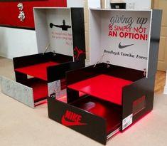 Air jordan or Nike Shoebox storage case image 1 Nike Shoe Box Storage, Shoe Rack Box, Giant Shoe Box Storage, Sneaker Storage, Storage Boxes, Wooden Toy Chest, Smart Packaging, Sneakers Box, Cool Kids Rooms