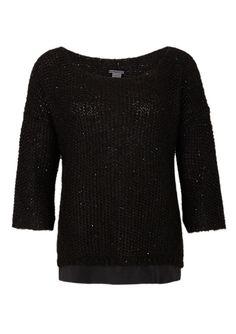 Glitzer-Pullover mit Seiden-Blende von s.Oliver. Entdecken Sie jetzt topaktuelle Mode für Damen, Herren und Kinder online und bestellen Sie versandkostenfrei.