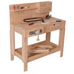 See related links to what you are looking for. Carpentry Projects, Wood Projects, Childrens Workshop, Kids Workbench, Woodworking Crafts, Woodworking Shop, Diy Crafts To Do, Toy Rooms, Kids And Parenting