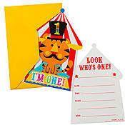 Fisher Price 1st Birthday Circus Invitations
