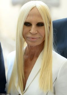 Fashion icon: Donatella Versace attends the Anna Wintour Costume Center grand opening at the Metropolitan Museum Of Art in New York on Monda...