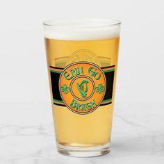 Erin Go Bragh Irish Logo Glass cricut st patricks day, st patricks day office, cookies st patricks day Green Bar, Erin Go Bragh, Perfect Cup, Personal Shopping, Photo Quality, Pint Glass, St Patricks Day, Digital Prints, Irish