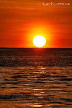 Sunset at Mabul Island, Sabah, Borneo, Malaysia. 2012.