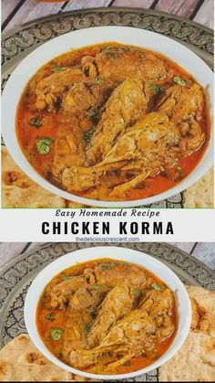 Chicken Korma is so mouth watering, authentic, and full of amazing Indian flavors and spices. This easy recipe with well done chicken in a rich and creamy cashew sauce will remind you of your visits to the best Indian kitchens or restaurants. A delicious Low Carb Recipes, Vegetarian Recipes, Cooking Recipes, Healthy Recipes, Rice Recipes, Cooking Tips, Lentil Recipes, Coconut Recipes, Broccoli Recipes