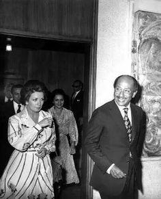 president Sadate and his wife Jihane