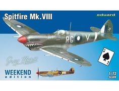 The Eduard 1/72 Supermarine Spitfire Mk. VIII from the plastic aircraft model kits range accurately recreates the real life British fighter aircraft flown during World War II.