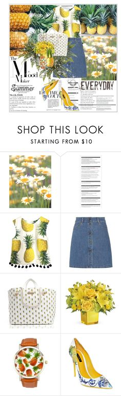 """""""PINAPPLES <3"""" by advent68 ❤ liked on Polyvore featuring WALL, Arche, Miu Miu, Tommy Hilfiger, A Classic Time Watch Co., Dolce&Gabbana, summerstyle and casualsummer"""
