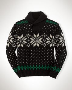 Snowflake Cotton Sweater - Boys 8-20 Sweaters - RalphLauren.com