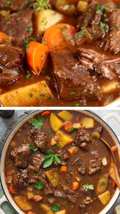 Irish Desserts, Irish Recipes, Beef Recipes, Cooking Recipes, Irish Meals, Beef Stew With Beer, Guinness Beef Stew, Beef Stew Meat, Hearty Beef Stew