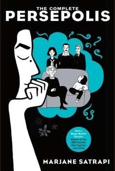 This was assigned for one of the readings in my women and gender studies class. I saw the movie version awhile ago and I love the book too. I heard it was banned in an elementary school awhile ago. I think due to some violence it would be suitable for junior high aged children and up.  | Persepolis via Love at First Book #graphicnovel