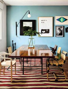 Mid Century Modern dining room from AD Spain