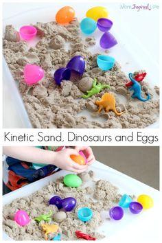 Dinosaur Theme Preschool, Dinosaur Dig, Dinosaur Activities, Preschool Themes, Sensory Activities, Preschool Crafts, Toddler Activities, Sensory Play, Sensory Tubs