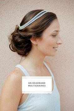 DIY Multi Chain Headband - hair jewelry