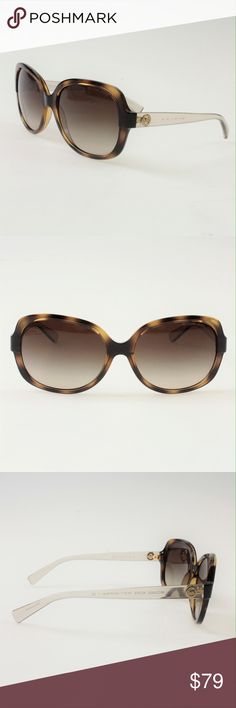 Michael Kors Isle of Skye Sunglasses Dark Tortoise This gorgeous sunnies are perfect for your sunshine wardrobe. These 58mm frames come in the color Dark Tortoise with transparent arms. The lenses are a dark brown gradient shade. These glasses are an outfit staple and come brand new in the original case with paperwork and a microfiber cloth. #40DCTC Michael Kors Accessories Sunglasses