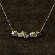5.8ctw natural grey diamond necklace.
