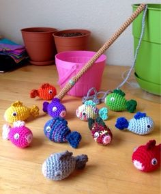 The Crazy Life of Alyssa Lou: Crochet Magnetic Fishing Game Set Tuesday, April 7, 2015