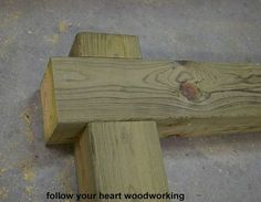 making a sign and hanging post, outdoor living, woodworking projects, The pieces lock together with a half lap joint