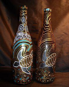 Bottle art for my turtle lover!