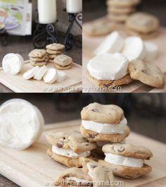 Procedimiento para hacer sándwich de helado con galletas