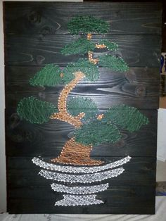String art - bonsai
