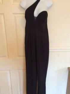 f704743a77f6 FABULOUS LADIES BLACK PARTY JUMPSUIT BY FOREVER UNIQUE - SIZE 12 -BNWT   fashion