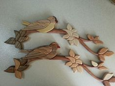 Bird intarsia. I made them