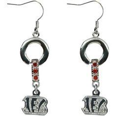 Cincinnati Bengals MVP Crystal Earrings