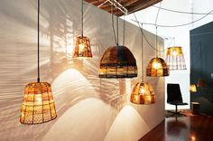 Indigenous weavers from the Galiwin'ku Elcho Island community and Mapuru Homeland collaborate with Australian design firm Koskela to create unique sculptural lighting pieces.