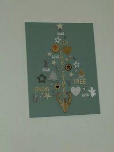 Kerst canvas