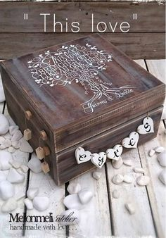 """Κουτί Ευχών """"This Love"""" Decorative Boxes, Love, Handmade, Home Decor, Homemade Home Decor, Hand Made, Amor, El Amor, Craft"""