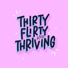 Thirty Flirty and Thriving / Block Lettering / Digital Lettering / iPad Lettering / Procrete / Apple Pencil / Sans Serif / Lettering / Hand Lettering by Types Of Lettering, Block Lettering, Typography Letters, Lettering Design, Hand Drawn Typography, Bold Typography, Bold Fonts, Type Design, Web Design