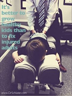 Kids that learn healthy habits are likely to be healthy adults. Stay well with #Chiropractic adjustments!