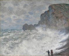 Rough Weather at Etretat - Claude Monet