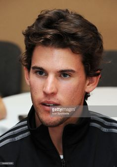 ATP tennis player Dominic Thiem (AUT) does interviews during Player Media Day held during the BNP Paribas Open, on March, 8, 2017, at the Indian Wells Tennis Garden in Indian Wells, CA.